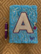 Girls Journal Diary Letter A - Pen, Lock, Keys, Bookmark - Sequence - Justice