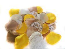 Sunflower Yellow Rustic Wedding Flower Petals Burlap Lace Shabby Chic Wedding