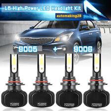 9006 9005 Hi Low Beam LED Headlight Kit for Honda Accord 90-2012 Civic 2004-2015