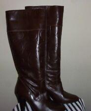 "75% Off COACH Boots Brown Italian Leather Signature ""C"" 3 1/2"" Heel,Sz6 1/2B"