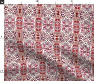 Flowers Pink Red Purple Heart Spring Summer Spoonflower Fabric by the Yard
