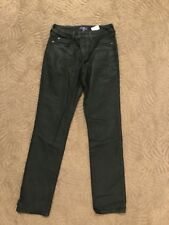 NYDJ Not Your Daughters Jeans Marca Black Shiney Sheen Skinny Jeans Size 4/38