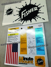 Fisher Minute Mount Snow Plow Decals 7pc Kit. Install Removal Blade Safety NEW