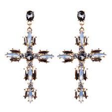 Cross Rhinestone Zircon Fashion Women Wedding Jewelry Drop Earrings Gemstone ME6