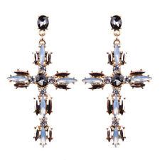 Cross Moonstone Black Onyx Zircon Party Women Jewelry Drop Earrings Gemstone ME6