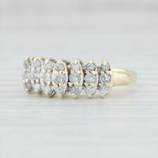 Tiered .40ctw Diamond Ring - 10k Yellow Gold Size 7.25 Vintage Women's