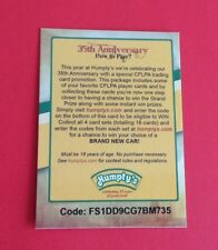 2012 Humpty's CFL Football Redemption Card