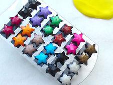 Ohrstecker Ohrringe STERN Facettiert Ohrschmuck Acrylperlen 11 Farben Farbwahl
