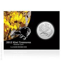 1 oz Silber Kiwi Neuseeland 2012 1 New Zealand Dollar im offiziellen Blister