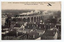 NOGENT SUR MARNE Val de Marne CPA 94 train aéroplane viaduc vallée de la marne