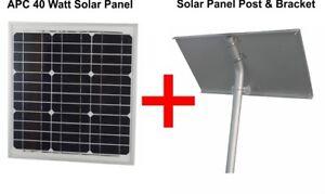 24v 40 Watts Solar Panel With Solar Panel Post & Bracket for 40 Watt Solar Panel