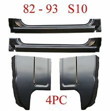 82 93 Chevy S10 4Pc Extended Rocker & Cab Corner Kit Goes Into Jambs 1.2MM Thick