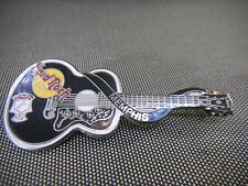 Memphis 1998 Black Elvis Acoustic Guitar Dead Rocker Hard Rock Cafe Pin