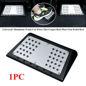 SUV Back Seat Foot Rest Pedal Car Aluminum Floor Carpet Mat Pad For All Weather