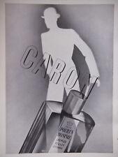 PUBLICITÉ PRESSE 1934 CARON POUR UN HOMME LES PLUS BELLES LAVANDES -ADVERTISING