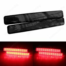 2X For VW T5 Transporter LED Rear Bumper Reflector Tail Stop Brake Light Black
