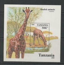 Thematic Stamps Animals - TANZANIA 1995 HOOFED ANIMALS MS mint