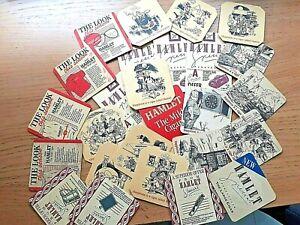 Set of 26 Vintage 1980/90s Hamlet Cigar Beer Mat Coasters.Job Lot.