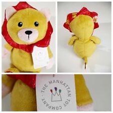 Lion Plush Baby Lovey Manhattan Toy Company Yellow Stuffed Animal Crinkle NEW