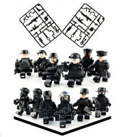 12 Pcs Police SWAT Mini Figures with Weapons Pack Fits lego's Brick Compatible