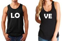 Tank Top LOVE Couple Shirts Funny Matching Valentine's Day Gift Anniversary Tees