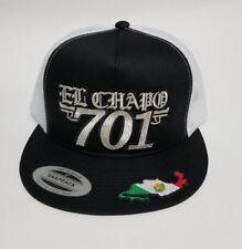 701 El Chapo Hat Black White Mesh Trucker Snap Back Adjustable New
