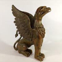 Klassizismus Biedermeier Empire Chimäre 70 cm Greifvogel Löwe Möbel Skulptur