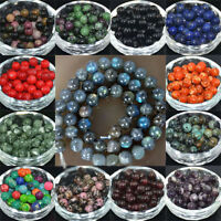 Natural Stone Gemstone Round Spacer Loose Bead Jewelry Making 4/6/8/10/12MM NEW