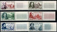 FRANCE 1960  Série CÉLÉBRITÉS n°1257 à 1262  neufs ★★ luxe / MNH BDF