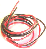 14AWG 14 AWG Silicone Wire 1m 1000mm 100cm 1 Meter Red Black & Red