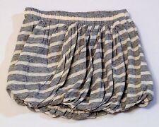 Crewcuts Cotton Knit Gray & White Striped Bubble Skirt, 2T