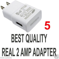 LOT 5 x 2A AC Wall Power Charger Adapter for Samsung Galaxy S5 S4 S3 S2 Note II