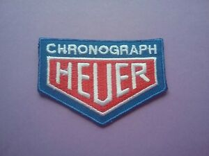 HEUER PATCH:- SEW or IRON ON:- MOTOR RACING OILS FUELS & TYRES