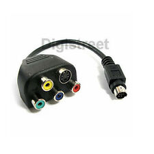 9Pin S-Video to RGB SVideo Composite Lead Cable Adapter for TV-Out AV Splitter