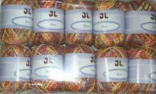 10 sk Boucle Novelty Bree Yarn with beautiful shine #705 Peach multi large lot