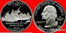 1999 S 90% Silver New Jersey State Quarter Deep Cameo Gem Proof No Reserve