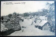 CONGO BELGE STANLEY FALLS UN VILLAGE STANLEYVILLE 1915