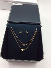 Lucky Brand Holiday Gift Box Set Gold Tone Stud & Semi Precious Jewelry Set SB1