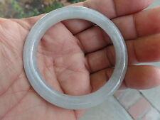 Vintage Translucent Natural Gray Lavender Jadeite Jade Bangle Bracelet #B111