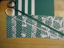 """Stampin Up FRESH FLORALS TRANQUIL TIDE 6 X 6"""" Designer Paper Card Kit Ribbon"""