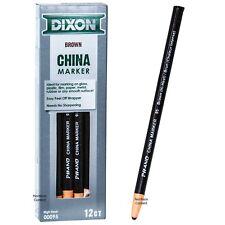 Dixon Phano Peel-Off China Markers Brown Hi-Heat 95 00095, Box of 12