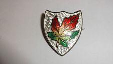 Vintage Sterling Silver & Enamel Canadian Maple Leaf Pin Badge
