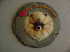 New ListingSpoontiques Large Stepping Stone I Love My Pomeranian Dog Wall Art Collectible