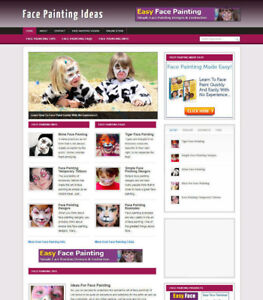 FACE PAINTING WEBSITE WITH AFFILIATE BANNERS & PAGE-FREE DOOMAIN & SSL CERT