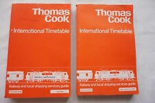 1979 Thomas Cook Cooks Continental Timetable Railway Shipping Services x2