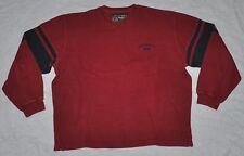 vtg ABERCROMBIE & FITCH Long Sleeve 1892 Shirt Men's LARGE L Dark Red Cotton 00s