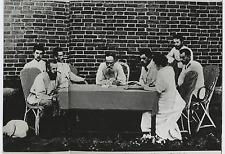 Léon Tolstoï et son Comité à Beguitchevka  Vintage silver print. Tirage postérie