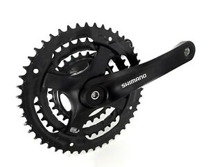 SHIMANO FC-TY501 HYBRID BIKE BICYCLE CRANKS CHAINSET 165MM 48-38-28T + BB