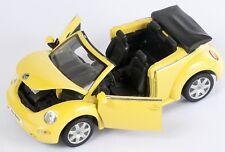 Blitz envío VW Nuevo Beetle convertible amarillo/Yellow 1:24 Welly modelo coche nuevo