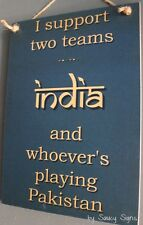 India versus Pakistan Indian ODI T20 Test Cricket Sign Sachin Tendulkar Etc.